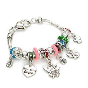 Kim Rogers Silver Tone Guardian Angel Bracelet